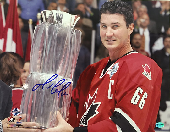 Mario Lemieux Autographed 11x14 Photo - 2004 World Cup of Hockey