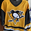 Thumbnail: Mario Lemieux hand signed CCM vintage throwback replica jersey with 1985 Calder