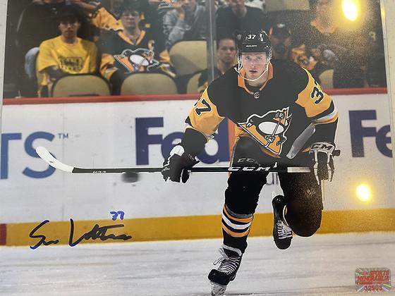 Sam Lafferty autographed Penguins 8x10