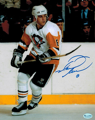 Mark Recchi Autographed 8x10 Photo -Penguins White