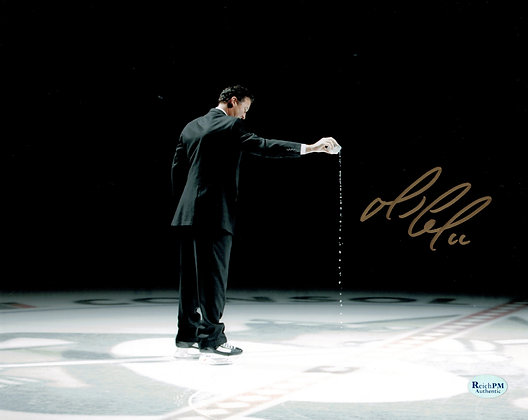Mario Lemieux Autographed 8x10 Photo-Pouring Water