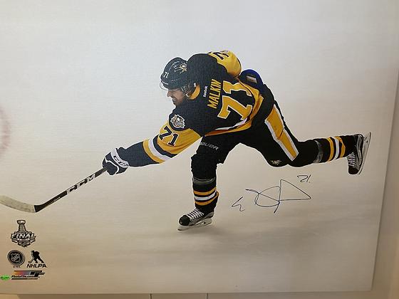 Evgeni Malkin signed canvas