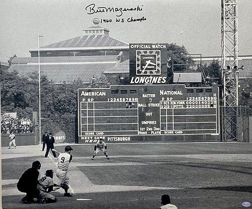 "Bill Mazeroski Signed 20x24 Canvas - Home Run Shot - Inscribed ""1960 WS Champs"""