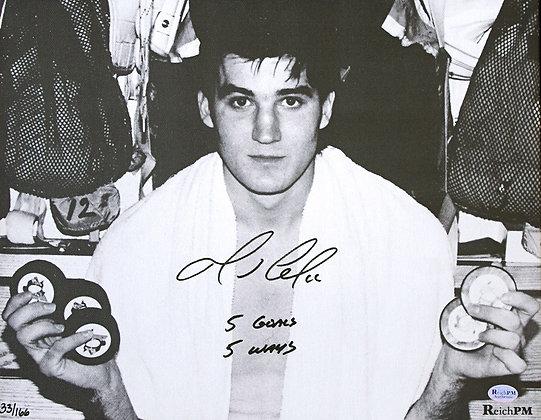 Mario Lemieux Autographed 8by10 with 5 goals/5 ways inscription
