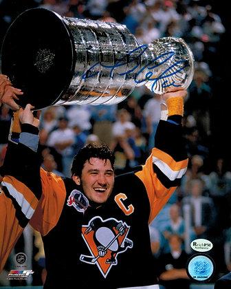 Mario Lemieux Autographed 8x10 Photo -1991 Cup