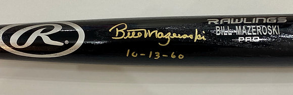"Bill Mazeroski Signed Baseball Bat - Inscribed ""10-13-60"""