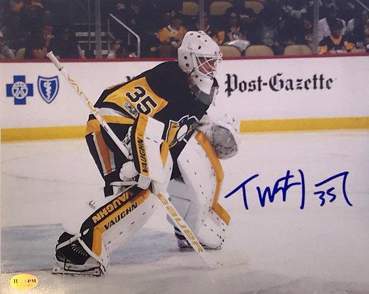 Tristan Jarry Autographed 8x10 Photo - Action