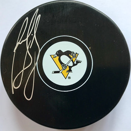Ron Francis Autographed Pittsburgh Penguins Puck