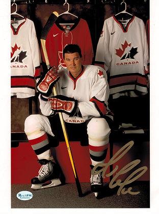 Mario Lemieux Autographed 8x10 Photo-2002 Olympics