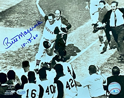 "Bill Mazeroski Signed 8x10 - Coming Home - Inscribed ""10-13-"