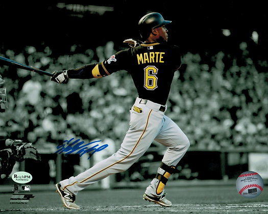 Starling Marte Autographed 8x10 Photo - Pirates
