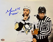 "Max Talbot Autographed 16x20 Photo , Inscribed ""Shhh..."""