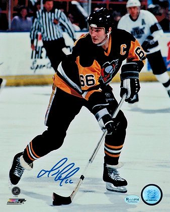 Mario Lemieux Autographed 8x10 Photo - vs Kings