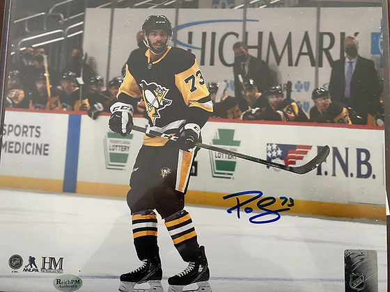 PO Joseph signed Penguins 8x10 photo