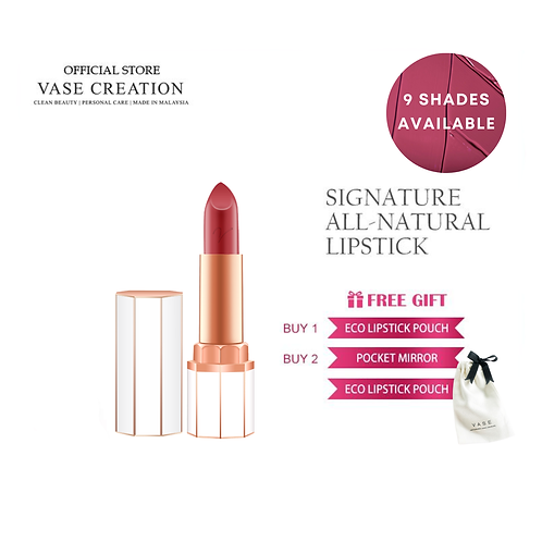 Signature All Natural Creamy Lipstick (9 Shades Available)