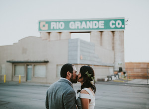 Dessert Was Delivered by Bicycle to This Urban Wedding at Moss Denver With Our VW Bus Photo Booth