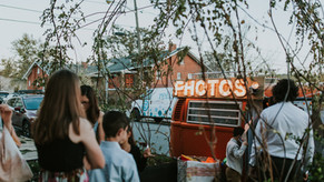 Dessert Delivered by Bicycle and A VW BUs Photo Booth | Urban Denver Wedding at Moss