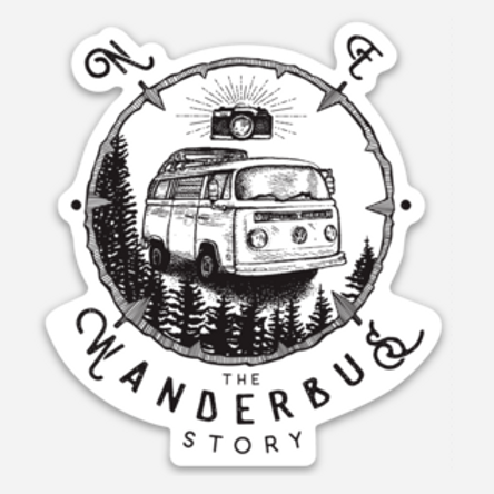 The Wanderbus Story Die Cut Sticker 3""