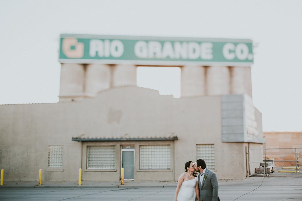 bridge and groom at Moss Denver Colorado wedding venue