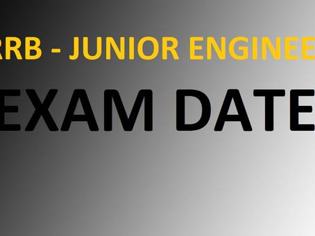 RRB-Junior Engineer Exam Date