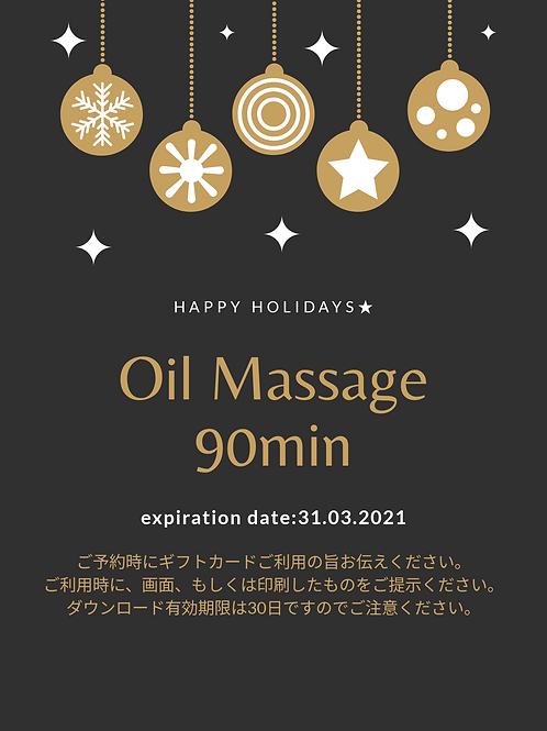 Oil Massage 90min