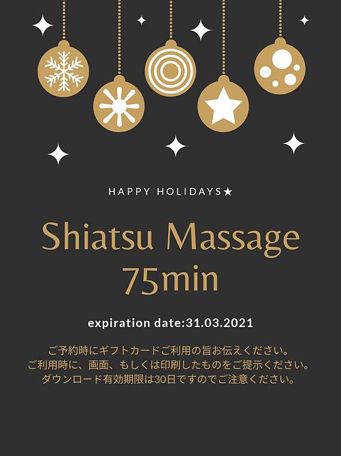 Shiatsu Massage 75min