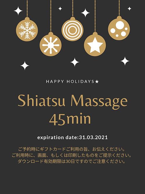 Shiatsu Massage 45min