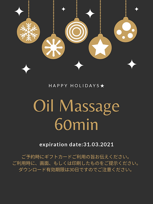 Oil Massage 60min