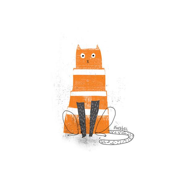 Chats interdits dans les rues de Montréal. Seuls les cônes oranges sont tolérés