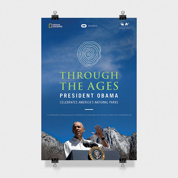 VR, Throuh The Ages, President Obama celebrates America's National Parks, Graphic Design Laurent Pinabel