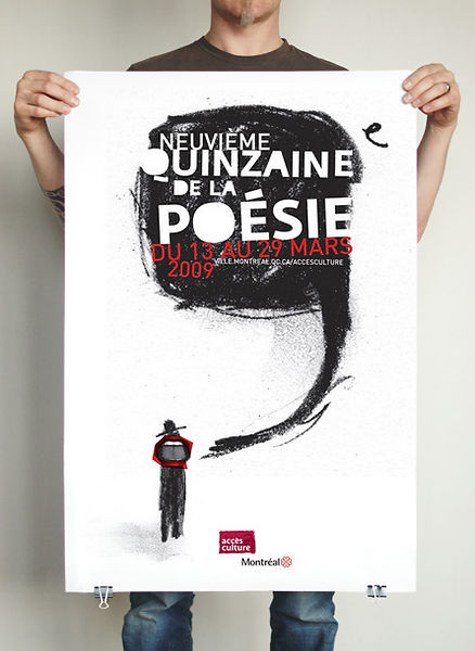 Festival de poésie, Montréal. Design et illustration : Laurent Pinabel