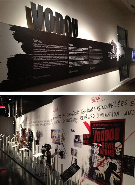 Vodou, vodoo. Exposition musée d'histoire, Gatineau, Canada. Design d'exposition : Larent Pinabel, Scénographie : Lupien-Mateau