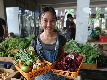 รีวิว แหล่งซื้อผักปลอดสาร ราคาไม่แพง ตลาดนัดฐานธรรมธุรกิจ