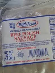 Dutch Brand Beef Polish Sausage  (each)