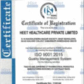 сертификат регистрации Heet Healthcare pvt ltd