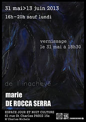 exposition, ROCCA SERRA, jour et nuit culture, Marie De Rocca Serra