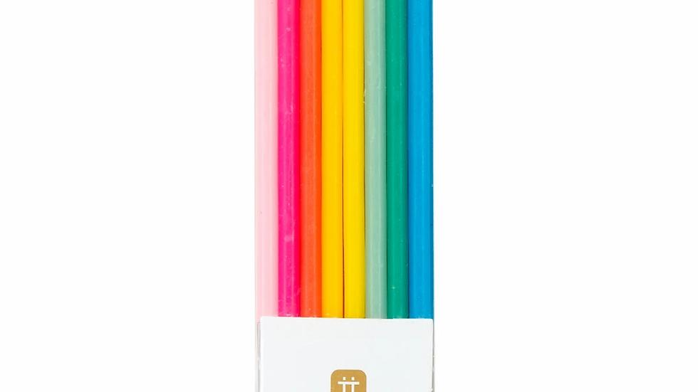 Rainbow Brights Candles
