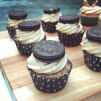 Cookies and Cream cupcake. Crushed cooki