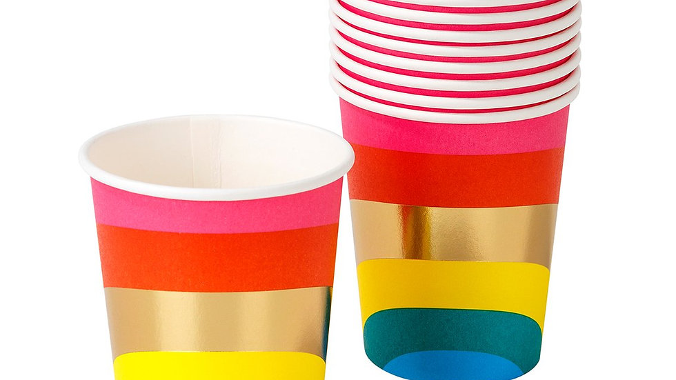 Rainbow Brights Paper Cups