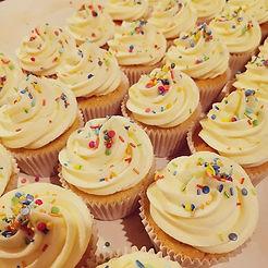 Classic vanilla cupcake.
