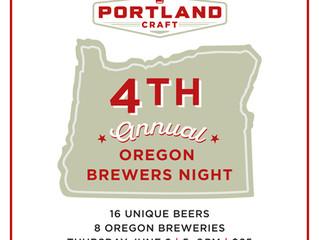 4th Annual Oregon Brewers Night at Portland Craft