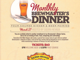 Brewmaster's Dinner with Sierra Nevada! Craft Beer Market Vancouver, Calgary and Edmonton