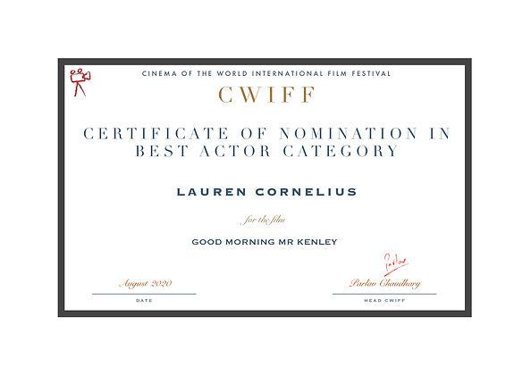 1.6 Nominee Best Actor Lauren Cornelius.
