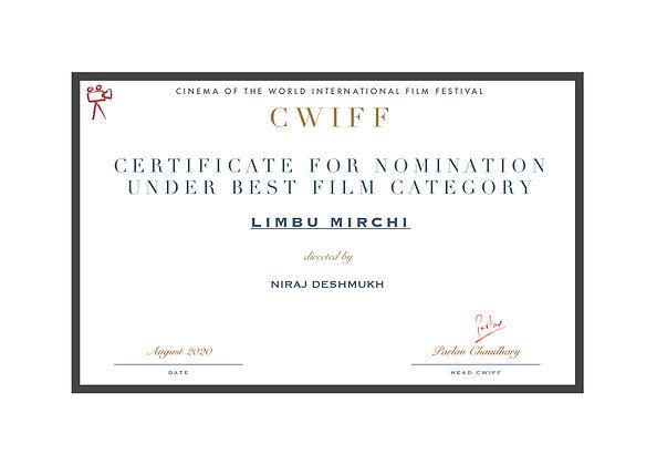 2.3 Nominated for best film - Lemon Chil