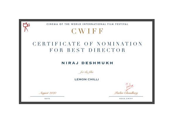1.2 Nominee Best Director - Lemon Chilli