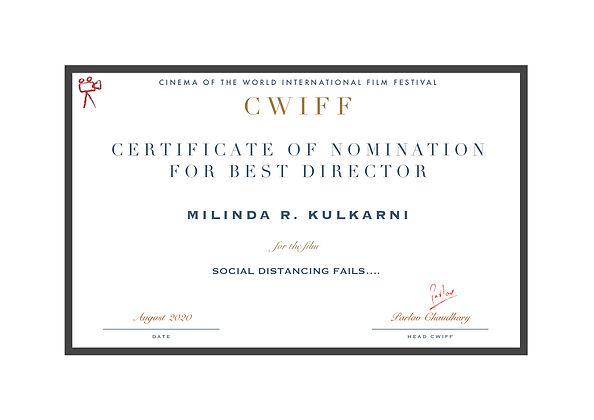 1.3 Nominee Best Director - Social Dista