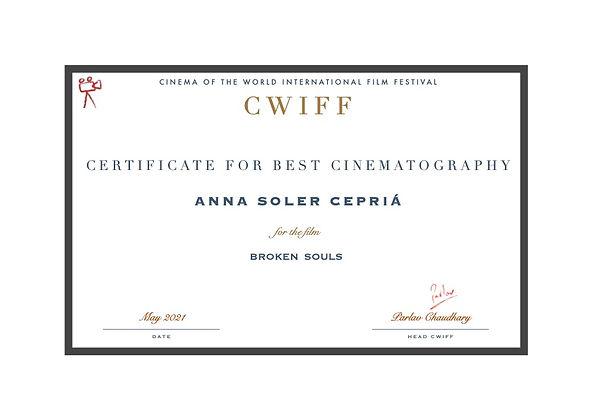 10. Best Cinematographer - Anna Soler Ce