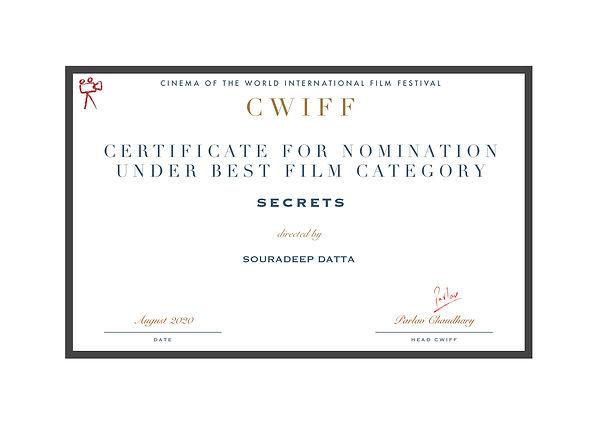 2.8 Nominated for best film - Secrets.jp