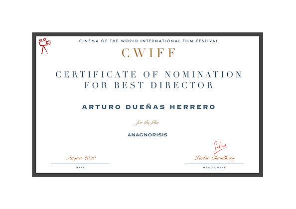 1.5 Nominee Best Director - Anagnorisis.