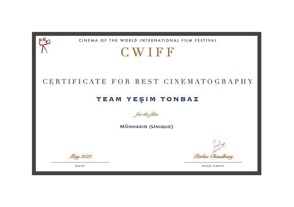 11. Best Cinematography - Münhasır (Uniq